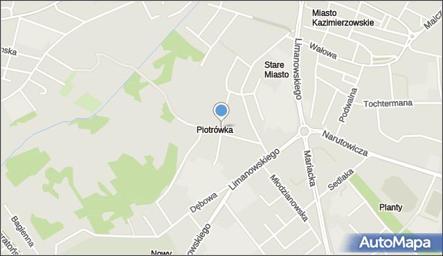 Radom, św. Wacława, mapa Radomia