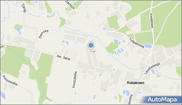 Robakowo gmina Luzino, św. Antoniego, mapa Robakowo gmina Luzino