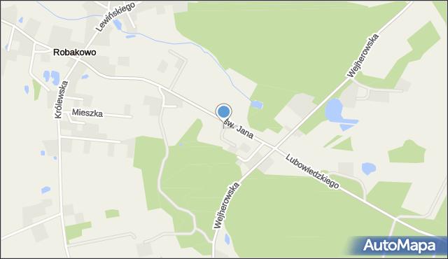 Robakowo gmina Luzino, św. Mikołaja, mapa Robakowo gmina Luzino