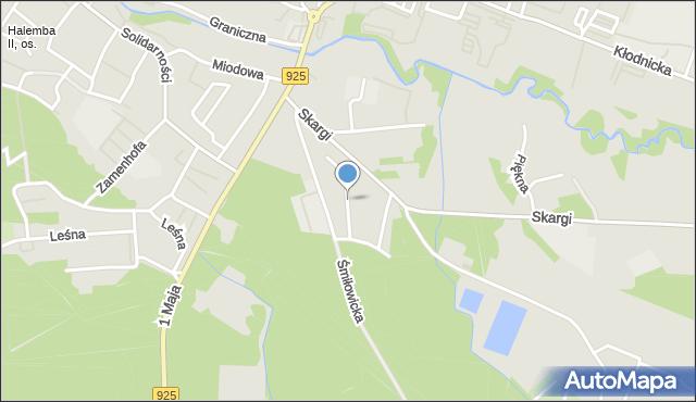 Ruda Śląska, Świerkowa, mapa Rudy Śląskiej
