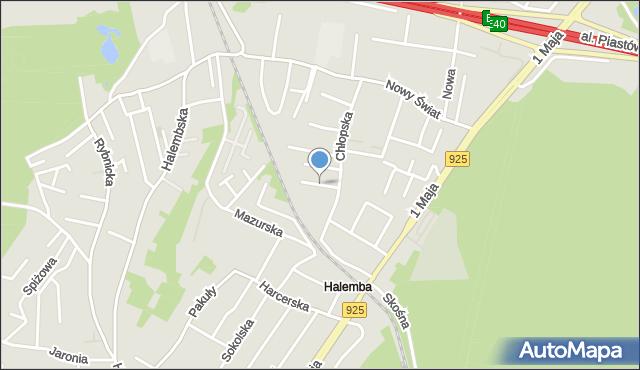 Ruda Śląska, Świętojańska, mapa Rudy Śląskiej