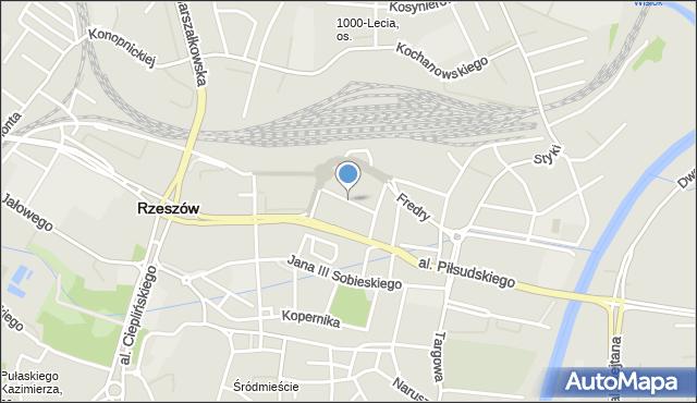 Rzeszów, św. Mikołaja, mapa Rzeszów