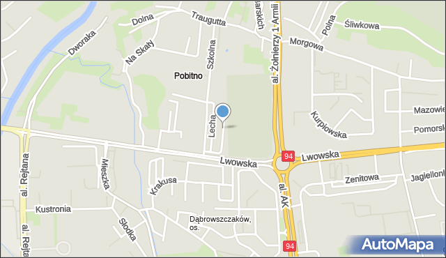 Rzeszów, Światowida, mapa Rzeszów