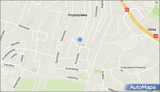 Rzeszów, św. Jana z Dukli, mapa Rzeszów