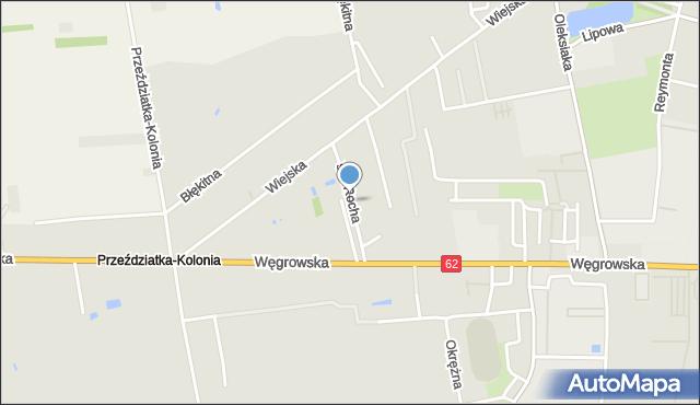 Sokołów Podlaski, św. Rocha, mapa Sokołów Podlaski