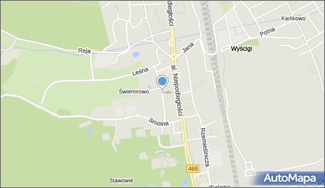 Sopot, Świemirowska, mapa Sopotu
