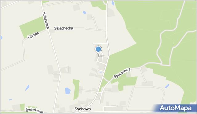 Sychowo, św. Alojzego, mapa Sychowo
