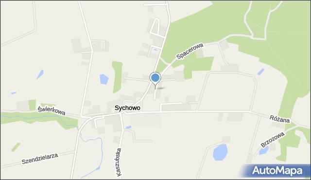Sychowo, św. Maksymiliana Marii Kolbego, mapa Sychowo
