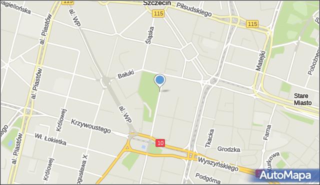 Szczecin, Św. Wojciecha, mapa Szczecina