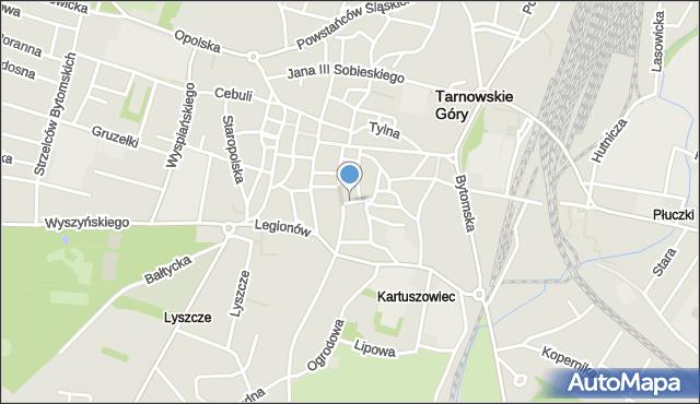 Tarnowskie Góry, św. Jacka, mapa Tarnowskie Góry