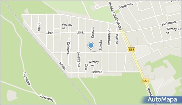 Toruń, św. Antoniego, mapa Torunia