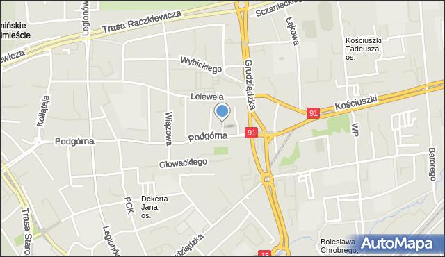 Toruń, św. Mikołaja, mapa Torunia