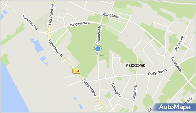 Toruń, Światowida, mapa Torunia