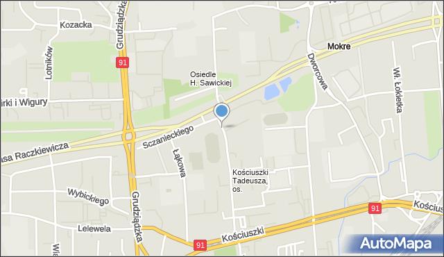 Toruń, Świętopełka, mapa Torunia