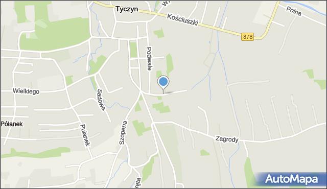 Tyczyn powiat rzeszowski, św. Katarzyny, mapa Tyczyn powiat rzeszowski
