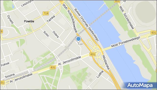 Warszawa, św. Franciszka Salezego, mapa Warszawy