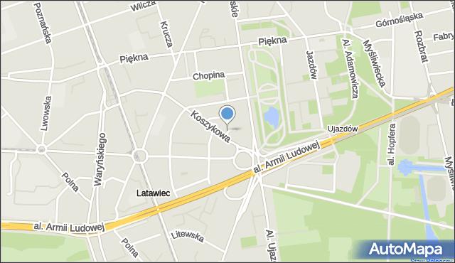 Warszawa, św. Teresy, mapa Warszawy