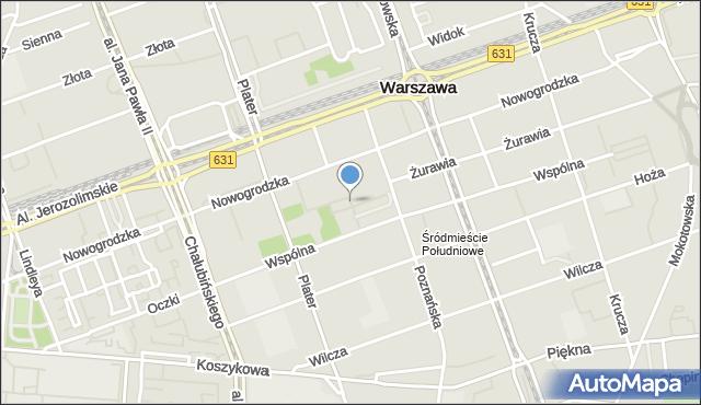 Warszawa, św. Barbary, mapa Warszawy