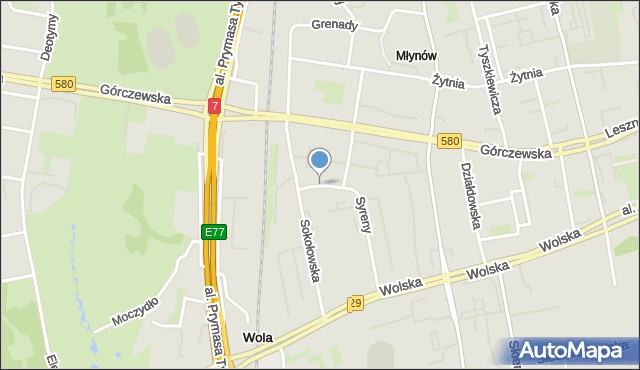 Warszawa, Św. Wojciecha, mapa Warszawy