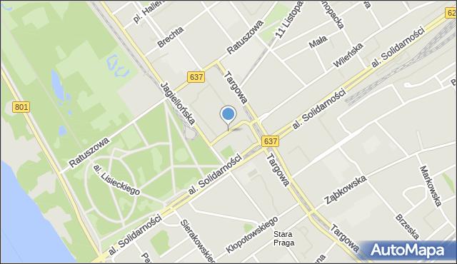Warszawa, św. Cyryla i Metodego, mapa Warszawy