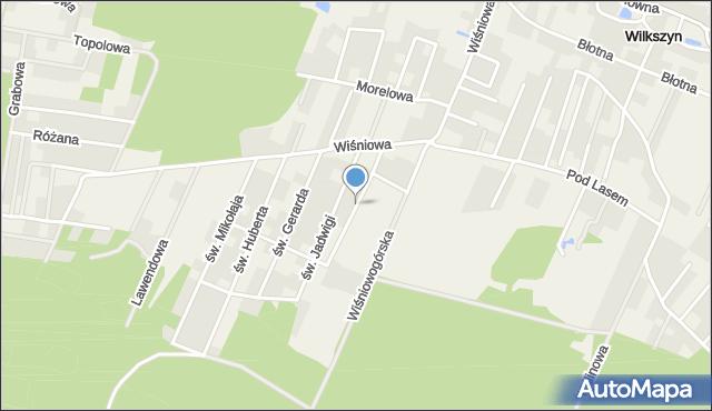 Wilkszyn, św. Krzysztofa, mapa Wilkszyn