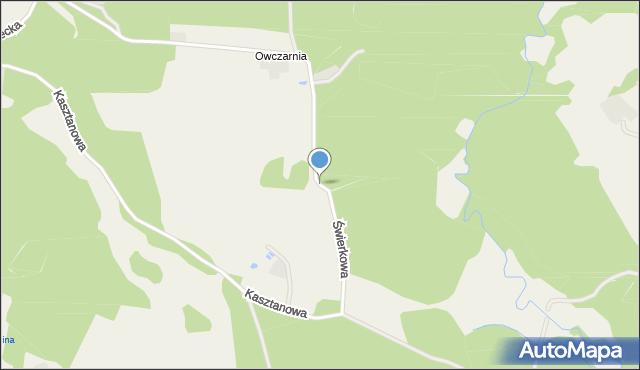 Wyszecino, Świerkowa, mapa Wyszecino
