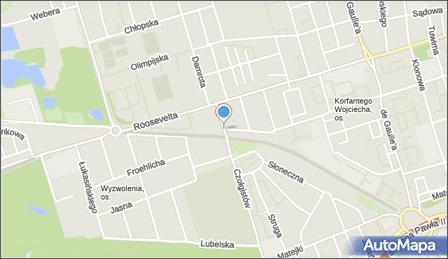 Zabrze, św. Józefa, mapa Zabrza