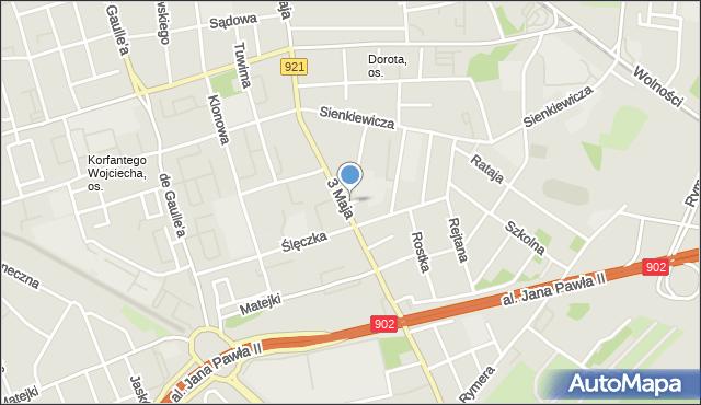 Zabrze, św. Marcina, mapa Zabrza