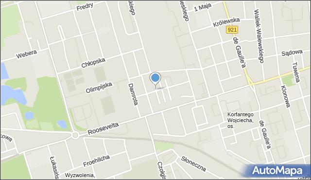 Zabrze, Świerkowa, mapa Zabrza