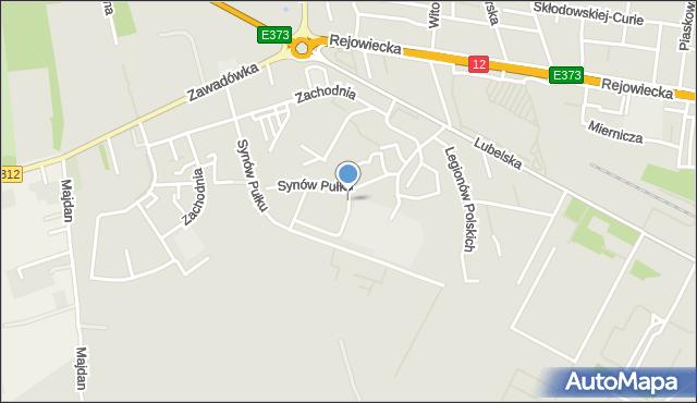 Chełm, Synów Pułku, mapa Chełma