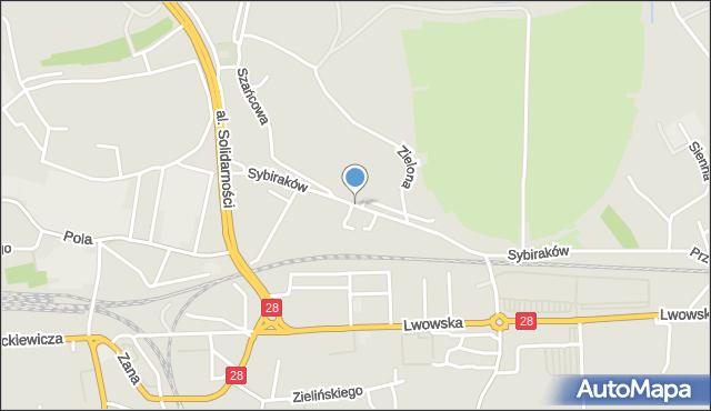 Przemyśl, Sybiraków, mapa Przemyśla