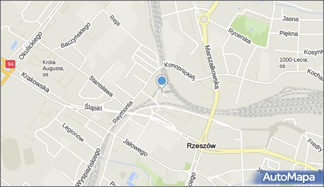 Rzeszów, Syrokomli Władysława, mapa Rzeszów