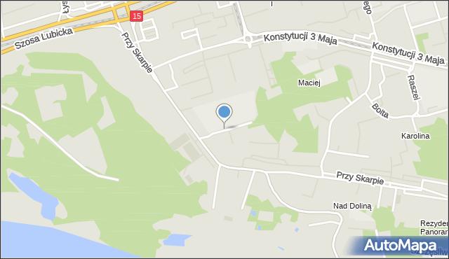 Toruń, Sydowa Mariana, mapa Torunia