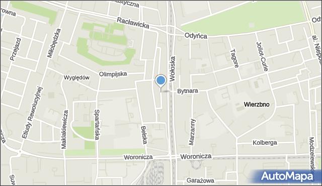Warszawa, Syryńska, mapa Warszawy