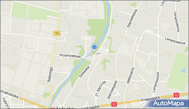 Andrychów, Szewska, mapa Andrychów