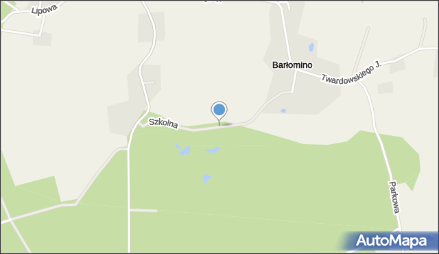 Barłomino, Szkolna, mapa Barłomino
