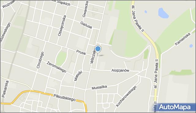 Bytom, Szafranka Józefa, ks., mapa Bytomia