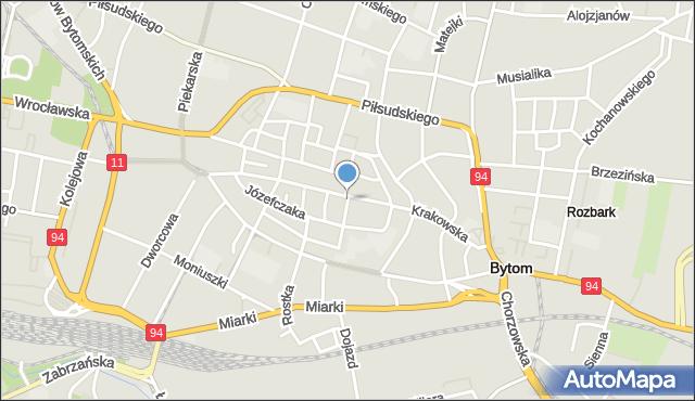Bytom, Szymanowskiego Karola, mapa Bytomia