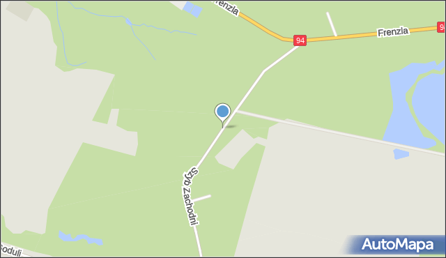 Bytom, Szyb Zachodni, mapa Bytomia
