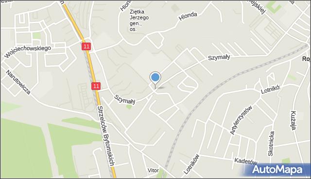 Bytom, Szymały, mapa Bytomia