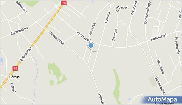 Bytom, Szymkowiaka Edwarda, mapa Bytomia