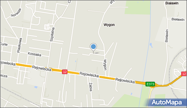 Chełm, Szafirowa, mapa Chełma