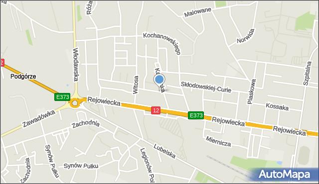 Chełm, Szarotki, mapa Chełma