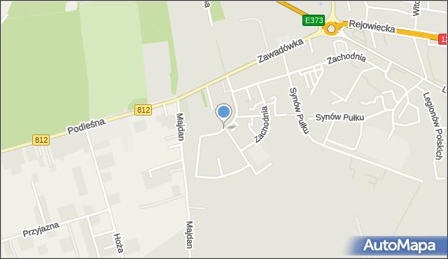 Chełm, Szarych Szeregów, mapa Chełma