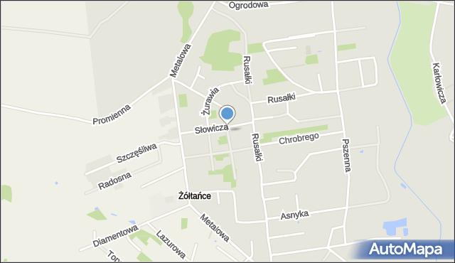 Chełm, Szpakowa, mapa Chełma