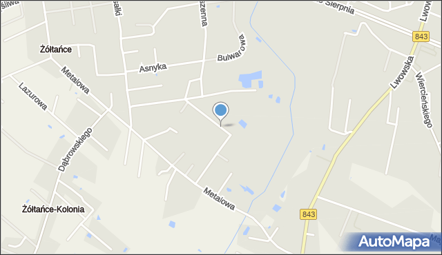 Chełm, Sztembis Barbary, dr., mapa Chełma