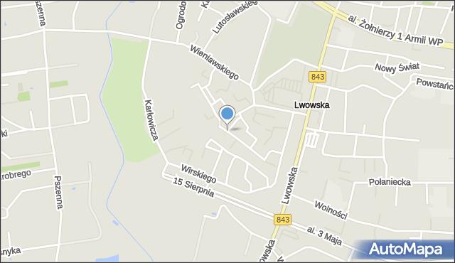 Chełm, Szymanowskiego Karola, mapa Chełma