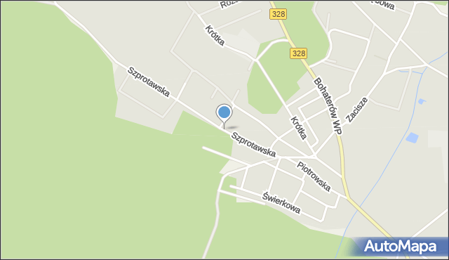 Chocianów, Szprotawska, mapa Chocianów