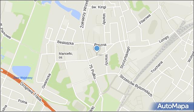 Chorzów, Szwedy Konrada, ks., mapa Chorzów