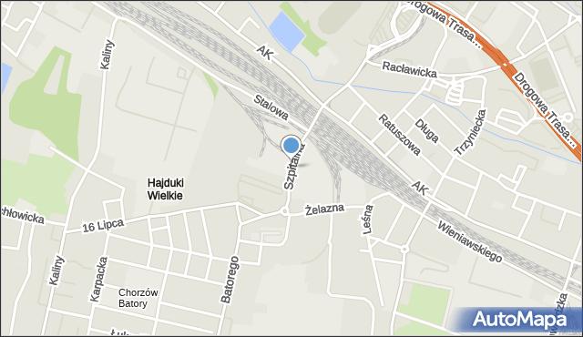 Chorzów, Szpitalna, mapa Chorzów